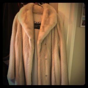 Jackets & Blazers - Vintage Purple Mink Fox Fur Coat. Gorgeous
